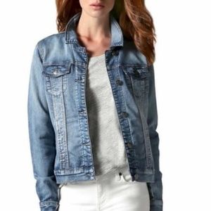 NWT! Buffalo David Bitton Knit Denim Jacket